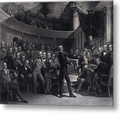 Henry Clay 1777-1852 Addressing Metal Print by Everett