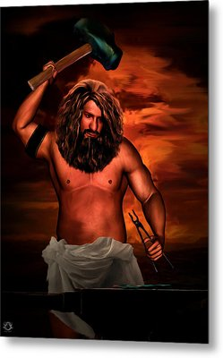 Hephaestus Metal Print by Lourry Legarde