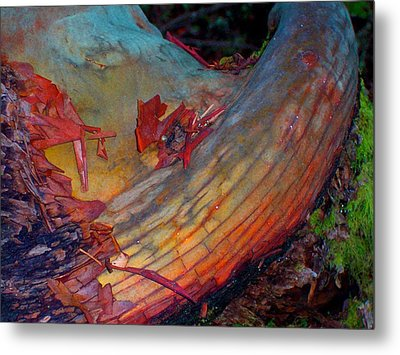 Metal Print featuring the digital art Here And Now by Richard Laeton