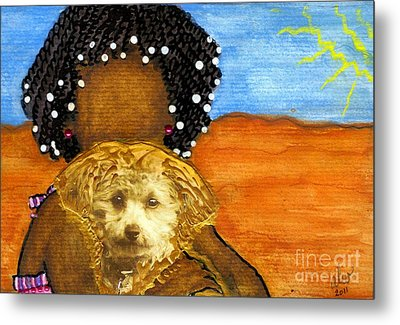 He's My Very Best Friend Metal Print by Angela L Walker