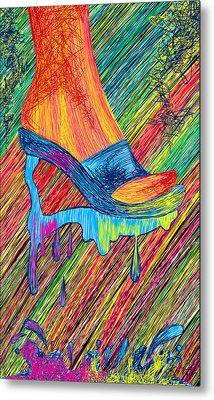 High Heels Abstraction Metal Print by Pierre Louis