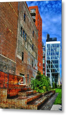 High Line Park Scene Metal Print by Randy Aveille
