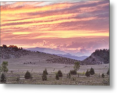 High Park Fire Larimer County Colorado At Sunset Metal Print by James BO  Insogna