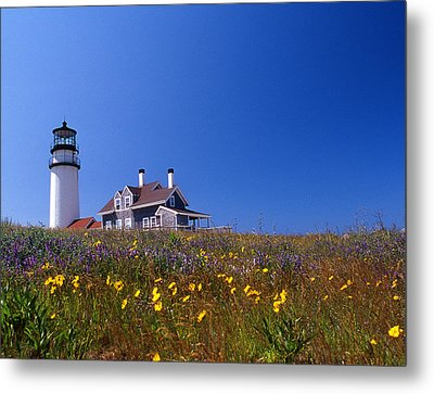 Highland Lighthouse Cape Cod Metal Print by Skip Willits