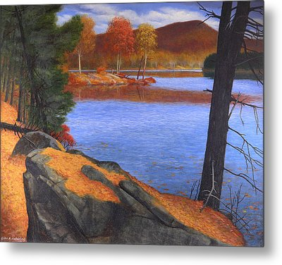 Highlands Octoberscape Metal Print by Glen Heberling