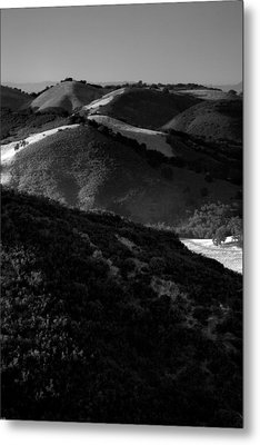 Hills Of Light And Darkness Metal Print by Steven Ainsworth