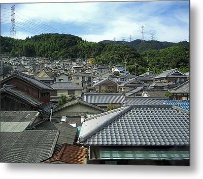 Hillside Village In Japan Metal Print by Daniel Hagerman