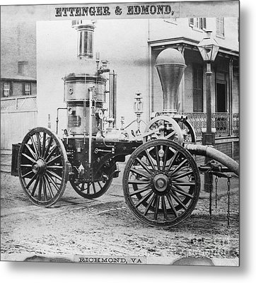 Historic Fire Engine Metal Print by Omikron
