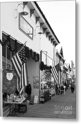 Historic Niles District In California Near Fremont . Main Street . Niles Boulevard . 7d10693 . Bw Metal Print by Wingsdomain Art and Photography
