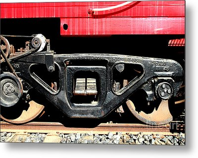 Historic Niles District In California Near Fremont . Western Pacific Caboose Train . 7d10625 Metal Print by Wingsdomain Art and Photography