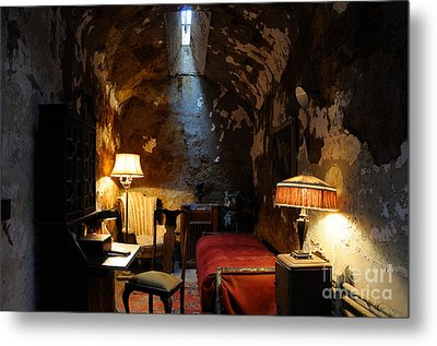 Historic Prison Cell Of Al Capone Metal Print by Gary Whitton