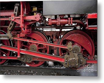 Historical Steam Train Metal Print by Heiko Koehrer-Wagner