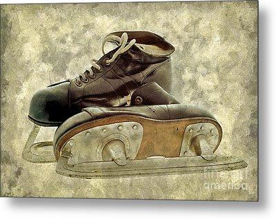 Hockey Boots Metal Print by Dariusz Gudowicz