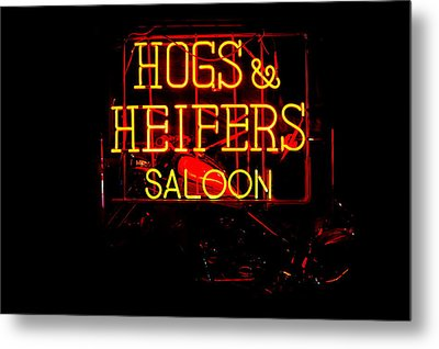 Hogs And Heifers Metal Print by Bobby Deal