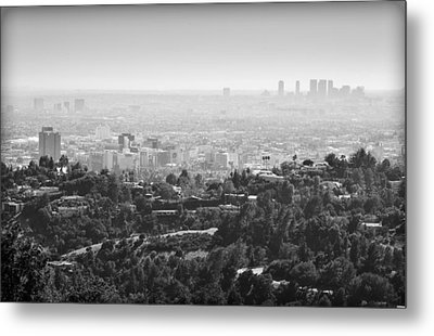 Hollywood From Above Metal Print by Ricky Barnard