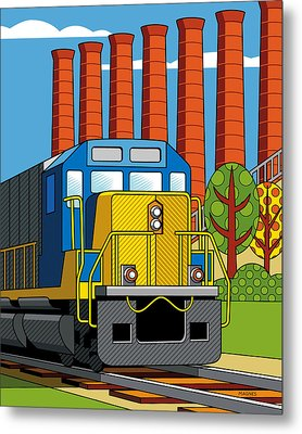 Homestead Stacks Metal Print by Ron Magnes
