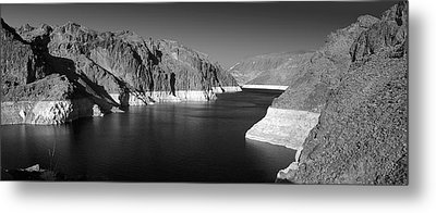 Hoover Dam Reservoir - Architecture On A Grand Scale Metal Print by Christine Till
