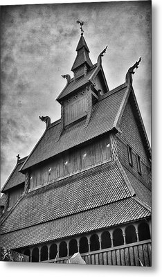 Hopperstad Stave Church Metal Print by A A