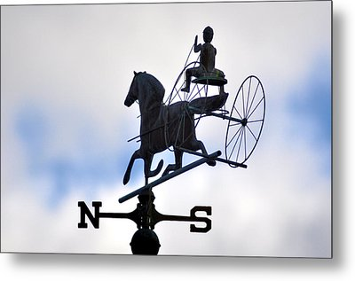 Horse And Buggy Weather Vane Metal Print by Bill Cannon