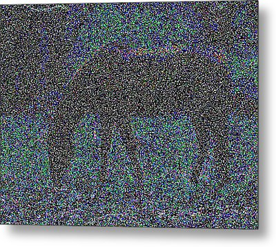 Horse Grazing Metal Print by Day Williams