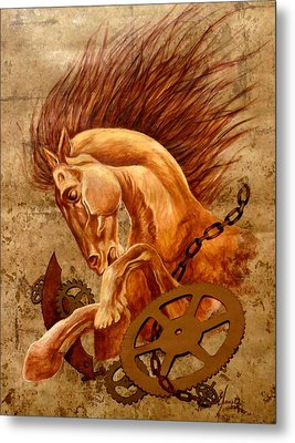 Horse Jewels Metal Print by Lena Day