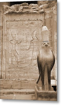 Horus Temple Metal Print by Donna Corless