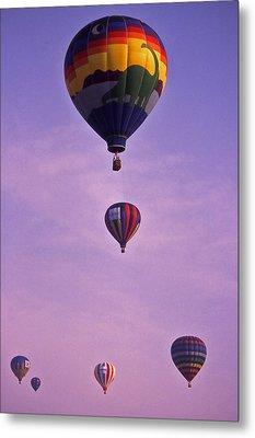 Hot Air Balloon Race - 3 Metal Print by Randy Muir