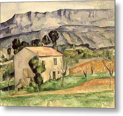 House In Provence Metal Print by Paul Cezanne