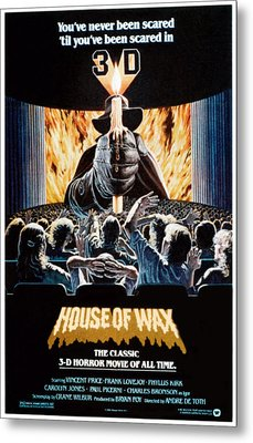 House Of Wax, Reissue Poster Art, 1953 Metal Print by Everett