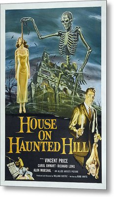 House On Haunted Hill, Alternate Poster Metal Print by Everett