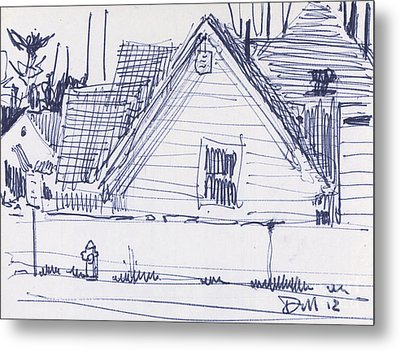 House Sketch One Metal Print by Donald Maier