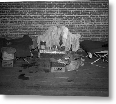 Household Goods Saved From A Flood Metal Print by Everett