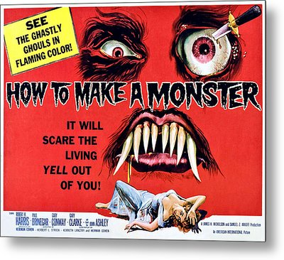 How To Make A Monster, Half-sheet Metal Print by Everett