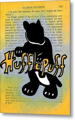 Hufflepuff Badger Metal Print by Jera Sky