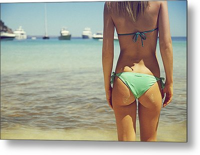 Hungarian Girl In Mallorca Metal Print by Andy Quarius