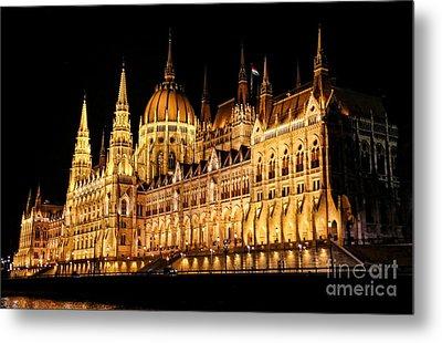 Hungarian Parliament Building Metal Print by Mariola Bitner