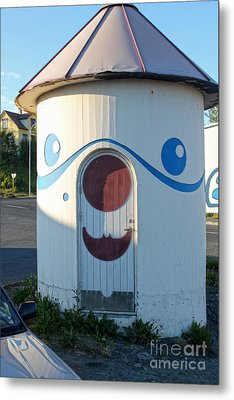 Husavik Iceland Funny Building Metal Print by Gregory Dyer