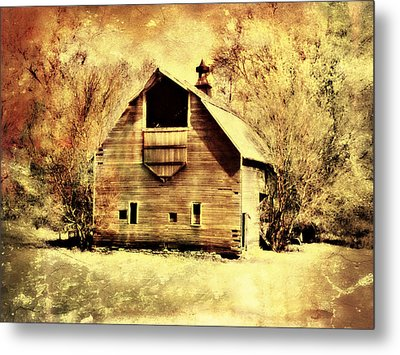 Hwy 20 Barn Metal Print by Julie Hamilton