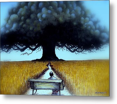 I Looked At The Abandoned Tree And I Not Saw Nests Neither Birds Metal Print by Paulo Zerbato