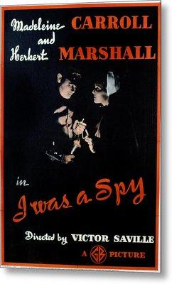 I Was A Spy, Herbert Marshall Metal Print by Everett