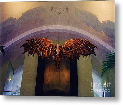 Icarus In The Louis Armstrong International Airport In New Orleans Metal Print by John Malone