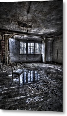 Ice Chair Metal Print by Nathan Wright