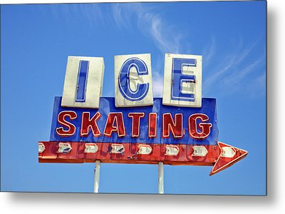 Ice Skating Metal Print by Matthew Bamberg