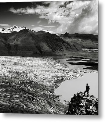Iceland Glacier Tongue Metal Print by Nina Papiorek