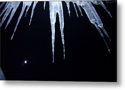 Icicle Moon Metal Print by Aaron Warner
