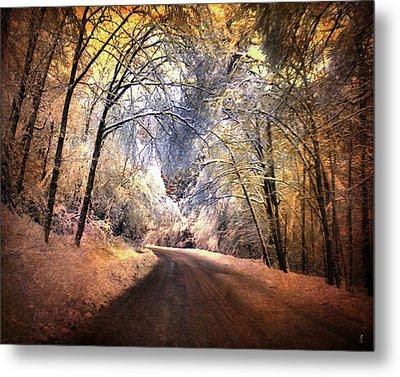 Icy Road Metal Print by Jai Johnson