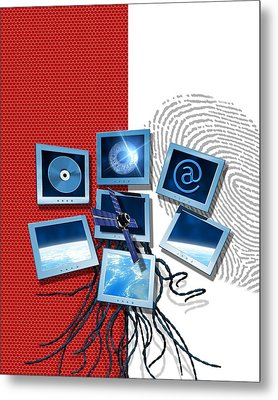 Identification And Surveillance Technology Metal Print by Victor Habbick Visions