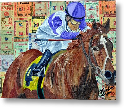 I'll Have Another Wins Metal Print by Michael Lee