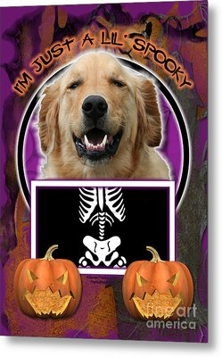 I'm Just A Lil' Spooky Golden Retriever Metal Print by Renae Laughner