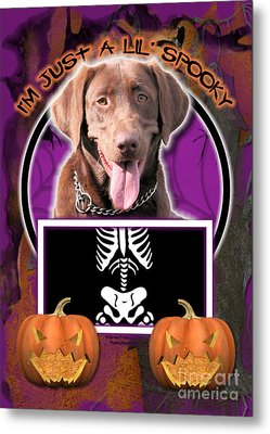 I'm Just A Lil' Spooky Labrador Metal Print by Renae Laughner